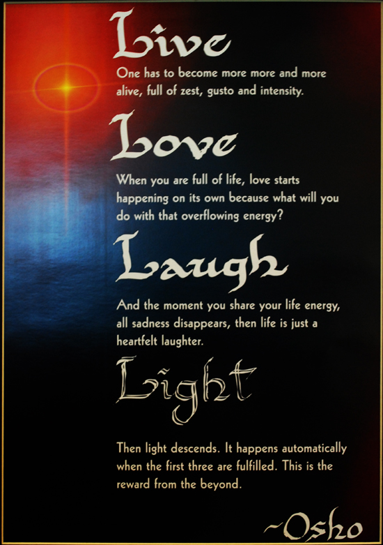 Osho's Mantra: Life, Love, Laughter
