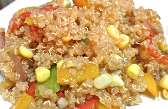 Quick Fried Quinoa