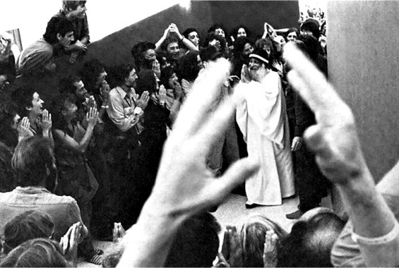 Osho during the celebration