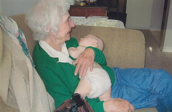 My mother with grandchild