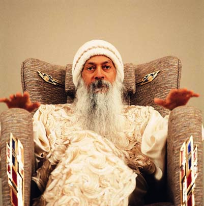 Osho during a celebration