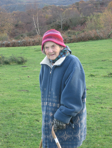 Vachana on a walk in Wales