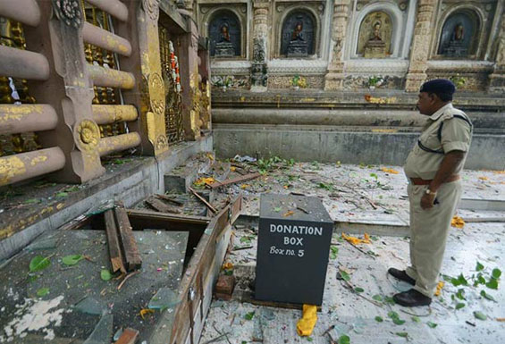 Bomb Blasts at Mahabodhi Temple in Bodh Gaya