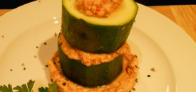 Courgette Humus Stack