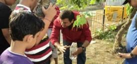 Sharing Osho while Planting Trees