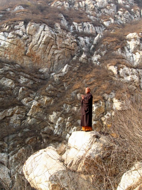 Master Wu NanFang meditating on Song Mountain