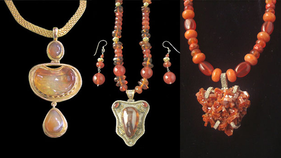 Fire Opals and Vanadinite