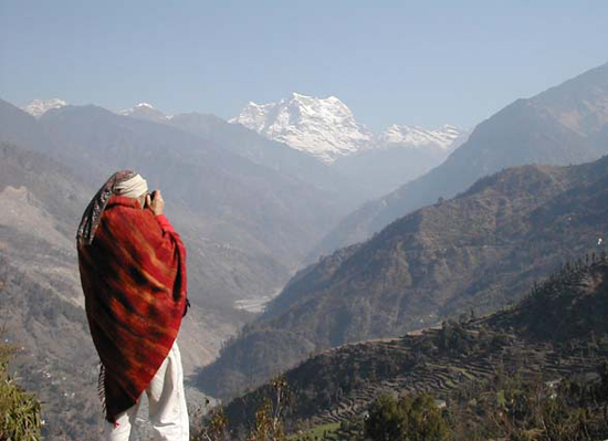 Premgit, at the foot of the glorious Nanda Devi, Indian Himalayas