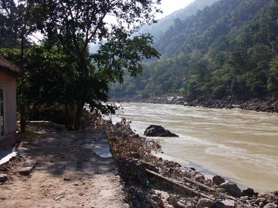 River Ganga at Osho Gangadham
