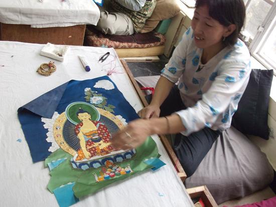 Sewing Thangkas