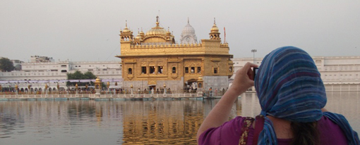 At Golden Temple in Amritsar