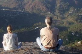 Meditators on Eagle's Rock