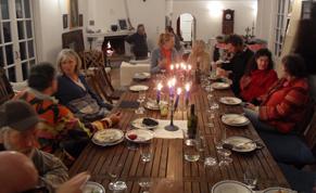 Potluck dinner at Villa Francis