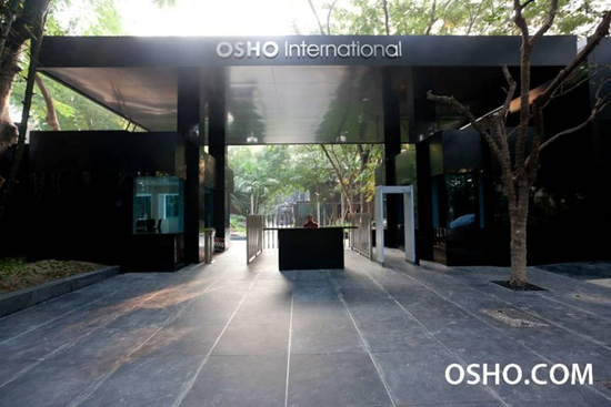 the new gate at the Osho Meditation Resort