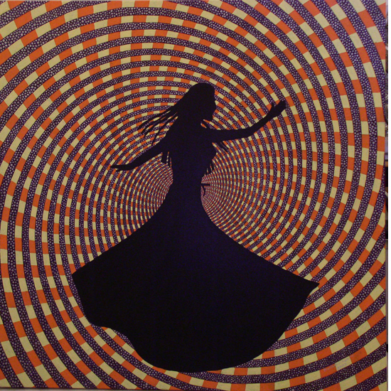 Whirling - acrilic & oil on canvas, 200, 33x33""