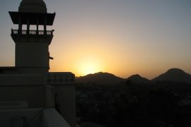 Sunset over Mt. Abu
