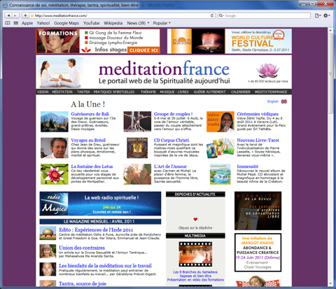 meditationfrance.com home page