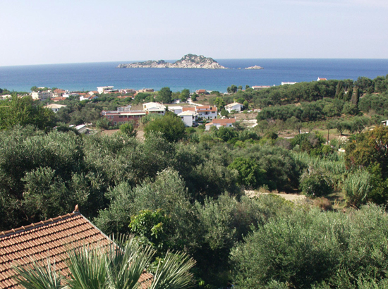 View onto the sea