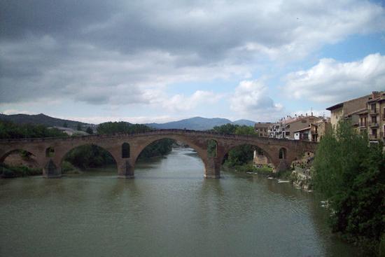 Roman Bridge leaving Puente La Reina
