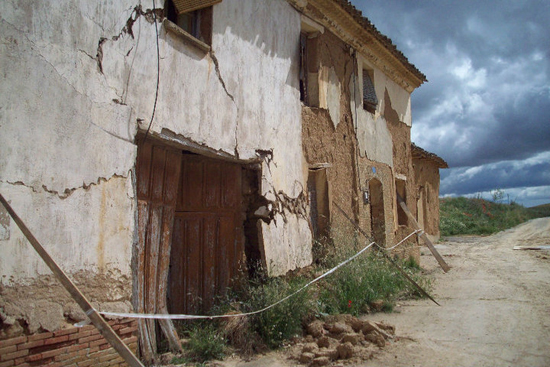 Dilapidated building in abandoned village