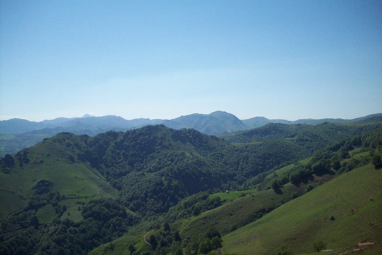 View of the Pyrenees soon after leaving St Jean