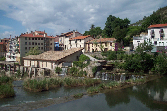 Picturesque village of Larrasoana on the way to Pamplona