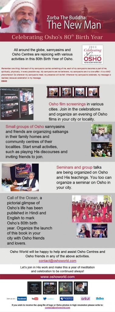 Celebrating Osho's 80th Birth Year