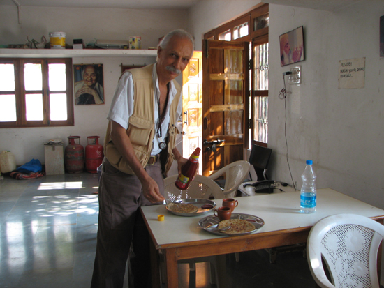 Anatto in the dining area cum kitchen at Osho Tirth center