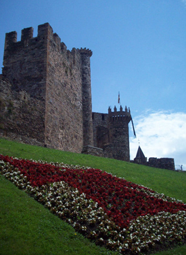 The imposing castle in Ponferrada