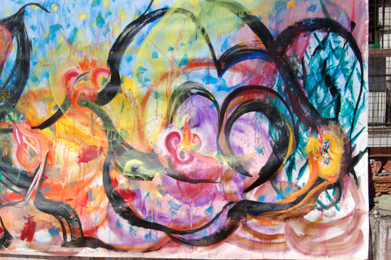 040 Out of the Black, new colors arose, new bubbles of life and energy