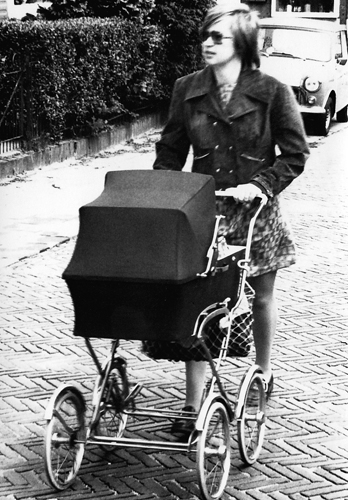1971 With Bart in the pram walking to grandparents in Baarn