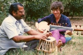 KP and Chinmaya on the tablas and sarod