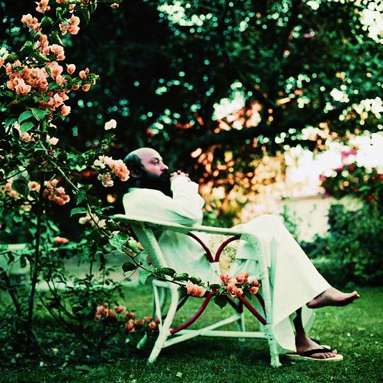 Osho in the garden