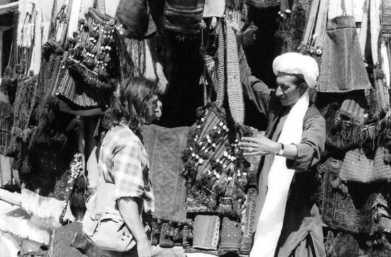 Buying a bag in Herat