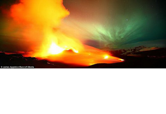 lava and northern light