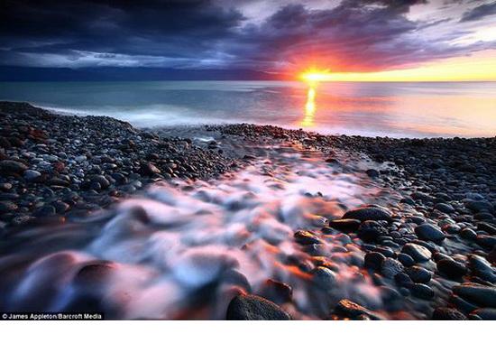 sunset in Island