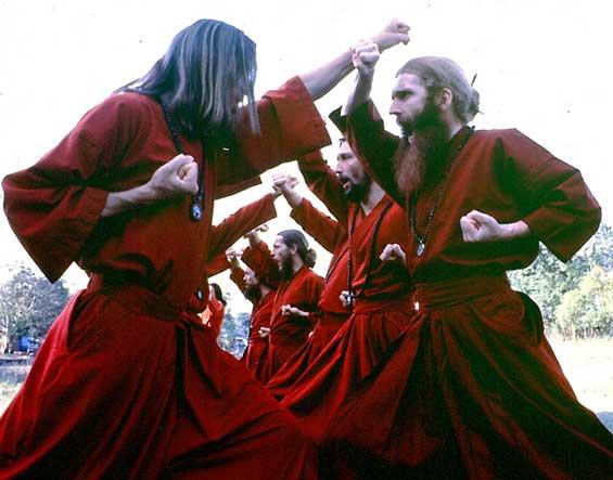 Karate practice of the 'samurai' guards