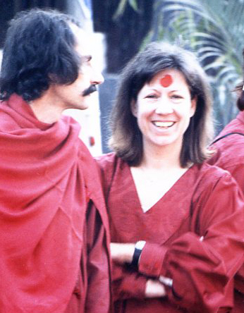 With Chinta at Osho's farewell - January 1990