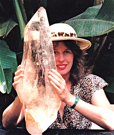 Sitara displays one of her favorite crystals