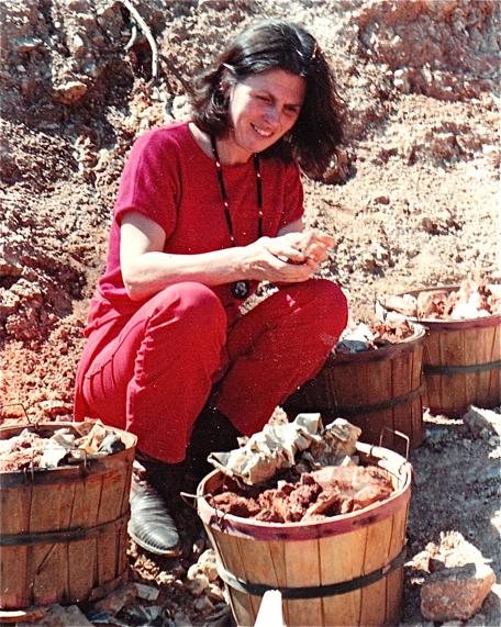 Sitara counts crystals gathered at Arkansas mine.