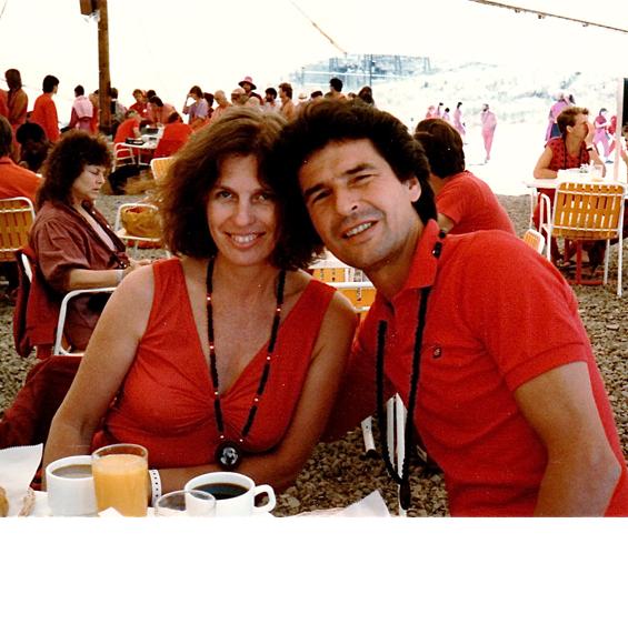 Sitara with longtime partner Satdeva at the July 1982 World Celebration at Rancho Rajneesh.