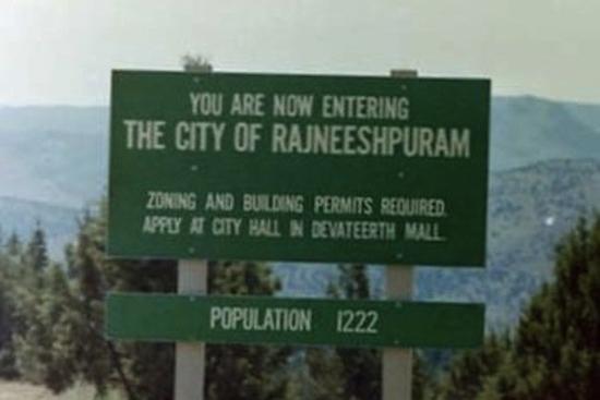 Rajneeeshpuram sign
