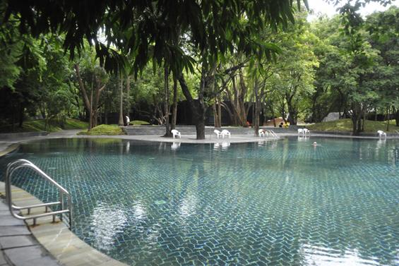 Basho pool at the Osho Meditation Resort in Pune