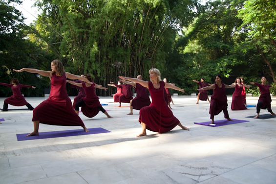 Tai Chi class at the Osho Meditation Resort in Pune