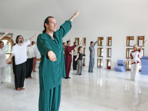 Chetan and Amiyo teaching at Osho Nisarga - Dharmsala