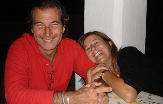 Radha and her partner Stefano
