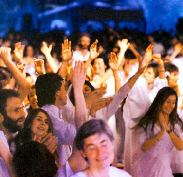 celebration in Buddha Hall