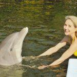 Madhuri with dolphin