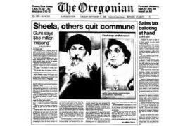 Oregonian Front Page 17 Sept 85