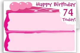 74th Birthday